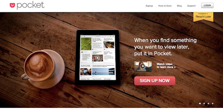スマホやタブレットで「あとで読む」、Pocketがとても便利