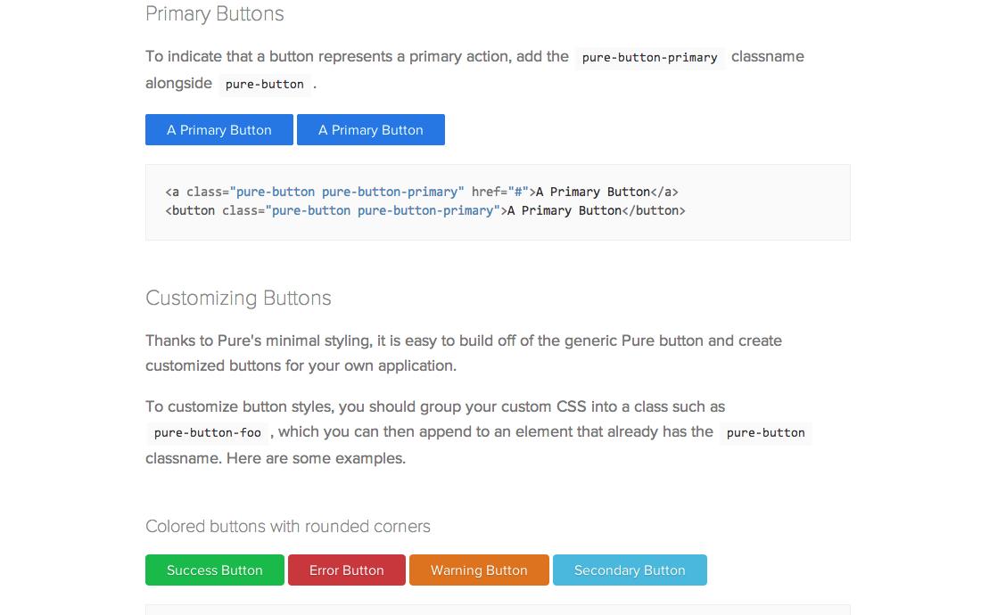 フラットデザインなボタンの画像