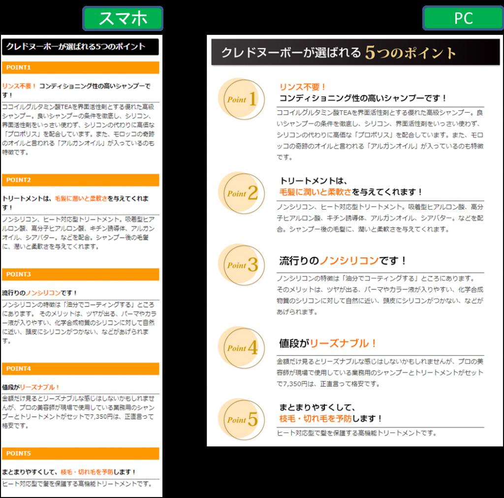 レスポンシブwebサイトではデバイス独自のサイト構築も可能